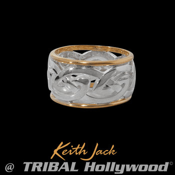 RONNOCH ETERNITY RING Gold and Silver Mens Ring Band by Keith Jack