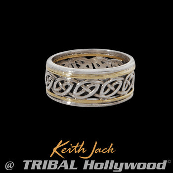 ISLA ETERNITY RING Celtic Knot Mens Ring Band by Keith Jack