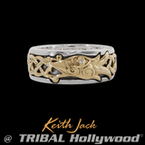 ETERNAL DRAGON RING Gold and Sterling Silver Mens Ring by Keith Jack