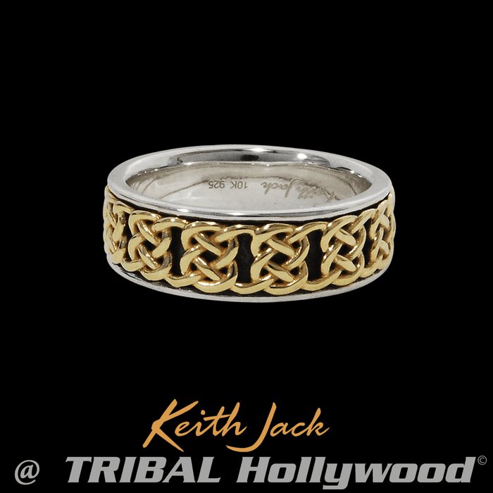 CELTIC DOUBLE KNOT Gold and Silver Ring for Men by Keith Jack