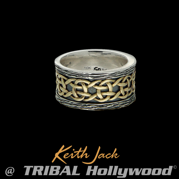 GOLD CELTIC KNOT BAND Keith Jack Eternity Ring Band for Men