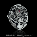 ONE-EYED PIRATE SKULL Ring for Men in Sterling Silver from Ecks