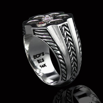 LAST CHANCE Revolver Ring for Men in Sterling Silver by Ecks