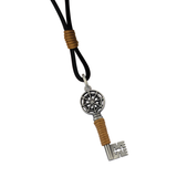 GATEKEEPER Mens Key Pendant with Black Leather Cord by BICO Australia