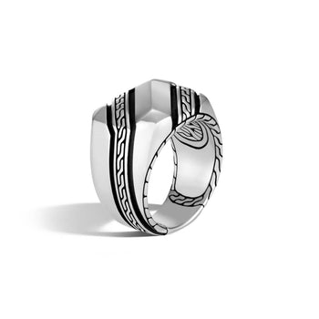 Classic Chain Silver Signet Ring by John Hardy