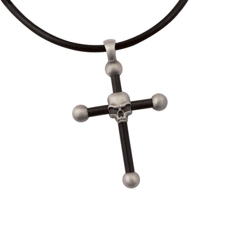 INTERSECTIONS Skull Cross Adjustable Rubber Chain by BICO Australia
