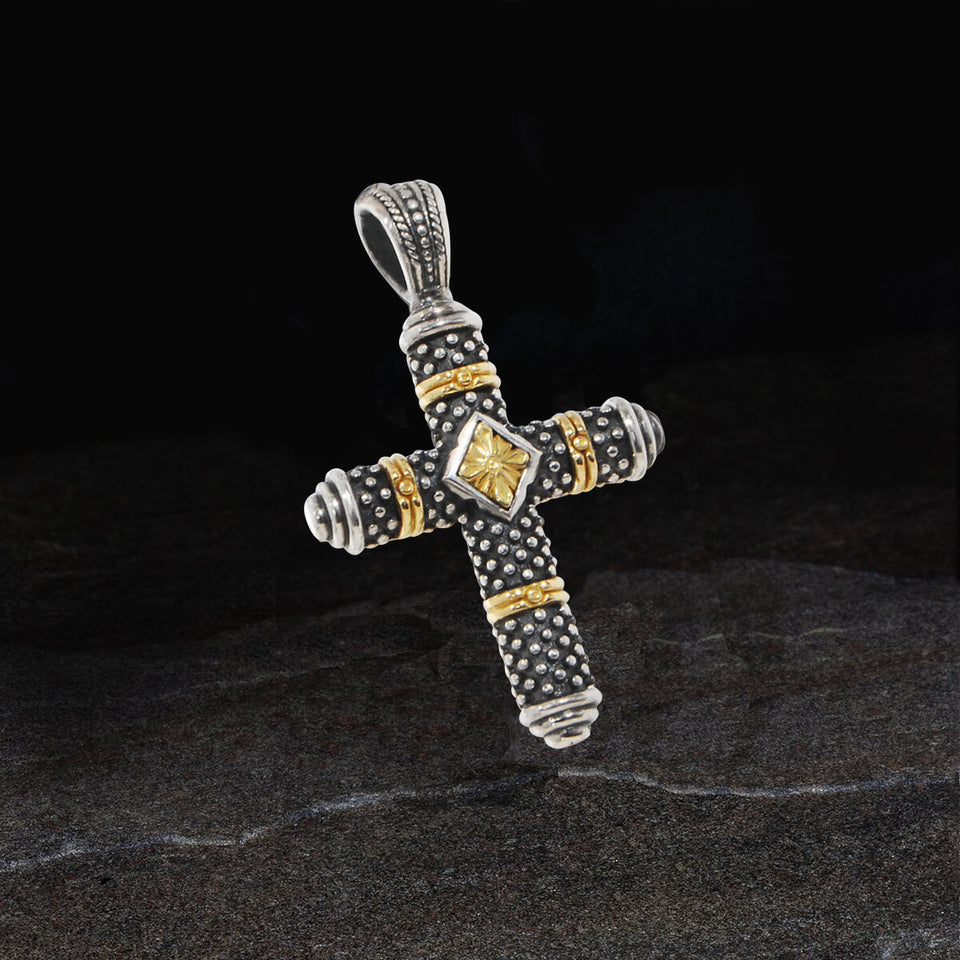 Konstantino GOLD GLORY CROSS for Men in Sterling Silver