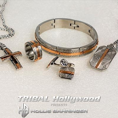 Hollis Bahringer SANTA FE COLLECTION with Rose Gold Stainless Steel