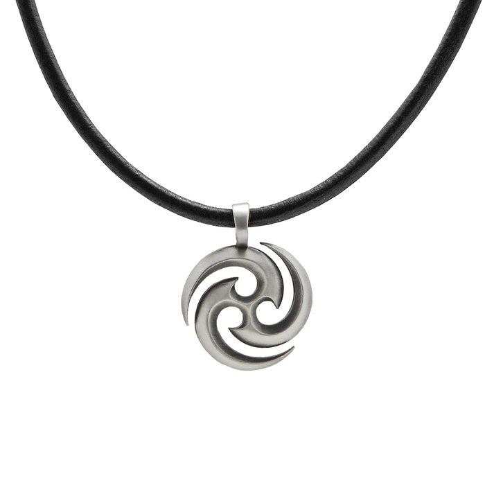 c32153e92117 THE SOURCE NECKLACE Mens Pendant and Black Leather Chain