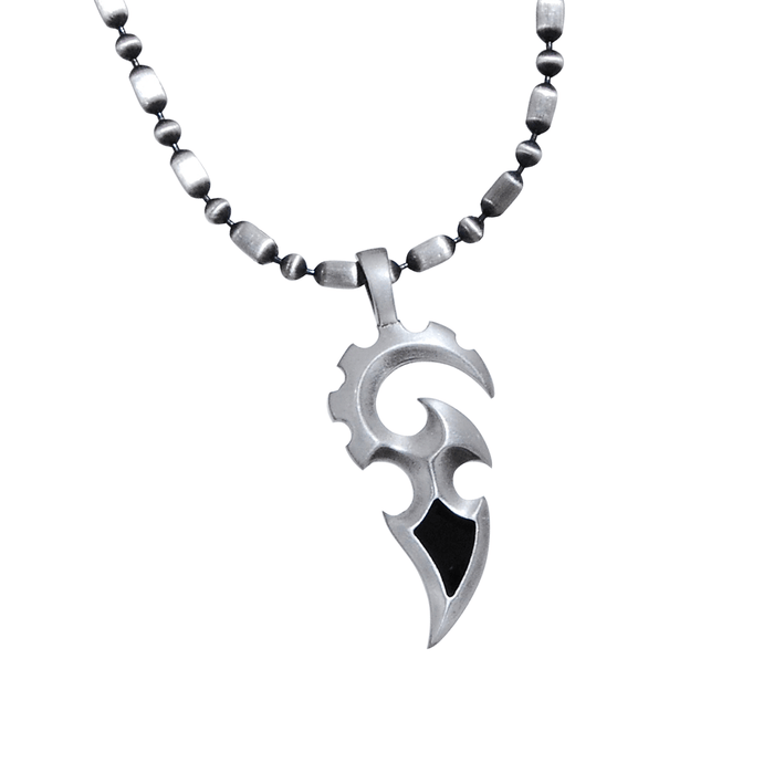 THE SWORD NECKLACE Tribal Mens Pendant with Warrior Leather Necklace