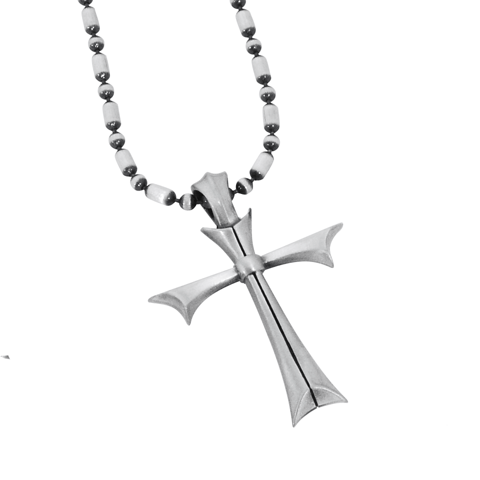 FATED CROSS NECKLACE Silver Pendant Chain for Men