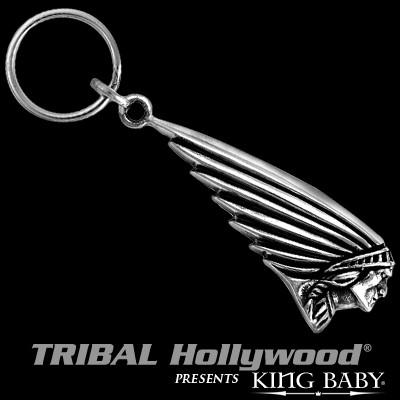INDIAN MOTORCYCLE Chief Key Fob Sterling Silver Keychain by King Baby 2450dcaa0