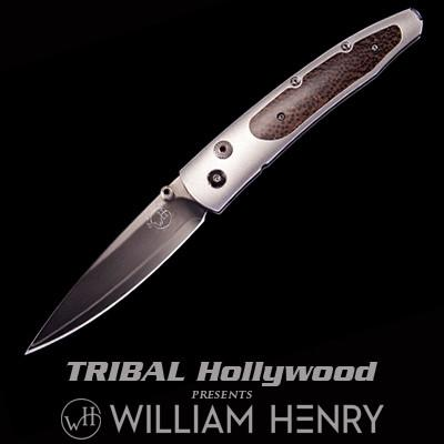 William Henry Lancet Blackwood Black Palm Wood Pocket Knife