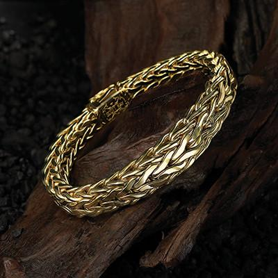 Scott Kay Doberman Tapered 18k Solid Gold Mens Bracelet