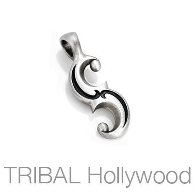 Slider Cleverness Mens Tribal Necklace Pendant by Bico