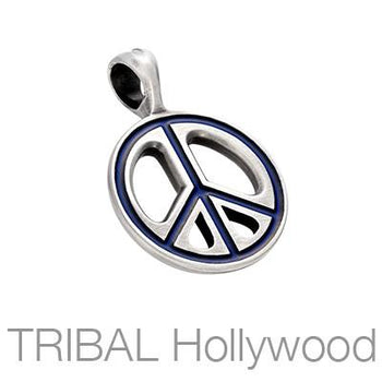 Pax Color Peace Sign Necklace Pendant by Bico Australia