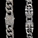 Konstantino Poseidon Anchor Sterling Silver Mens Bracelet Close-up