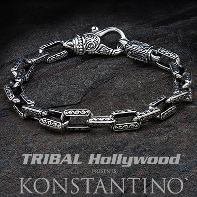 fork and silver Clasp spoon Men/'s bracelet with Tortellino