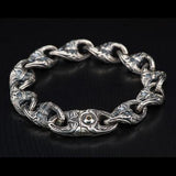 William Henry Anchor Link Sterling Silver Mens Bracelet 3