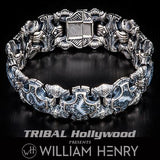 William Henry Orca Fossilized Coral Mens Bracelet