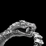 William Henry Sculpted Snake Sterling Silver Mens Bracelet 1