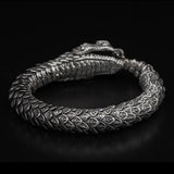 William Henry Sculpted Snake Sterling Silver Mens Bracelet 2