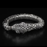 William Henry Sculpted Snake Sterling Silver Mens Bracelet 3