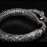 William Henry Sculpted Snake Sterling Silver Mens Bracelet 4