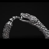 William Henry Sculpted Snake Sterling Silver Mens Bracelet 5