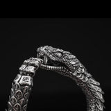 William Henry Sculpted Snake Sterling Silver Mens Bracelet 6