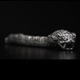 William Henry Sculpted Snake Sterling Silver Mens Bracelet 7