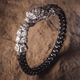 William Henry Sterling Silver Rattlesnake Mens Bracelet 9