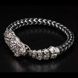 William Henry Sterling Silver Rattlesnake Mens Bracelet 1