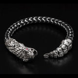 William Henry Sterling Silver Rattlesnake Mens Bracelet 2