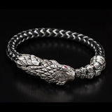 William Henry Sterling Silver Rattlesnake Mens Bracelet 3