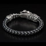 William Henry Sterling Silver Rattlesnake Mens Bracelet 4