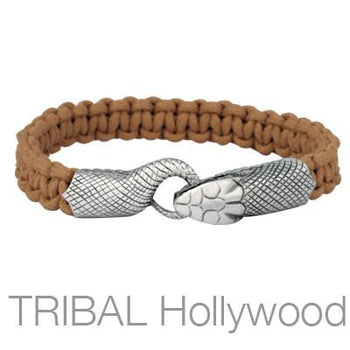 UROBOS SNAKE BROWN Woven Cord Bracelet for Men by Bico Australia