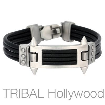 PHALANX BLACK BRACELET Multi-Strand Leather for Men by Bico Australia