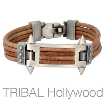 PHALANX BROWN BRACELET Multi-Strand Leather for Men by Bico Australia