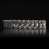 William Henry Layered Curb Link Silver Mens Bracelet 1