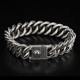 William Henry Layered Curb Link Silver Mens Bracelet 2
