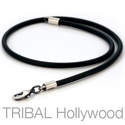 RUBBER NECKLACE Extra Thick Width Fixed Length