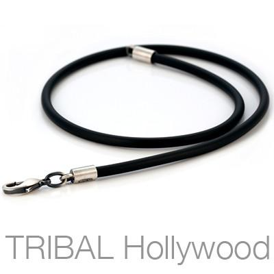 RUBBER NECKLACE Thick Width Fixed Lengths