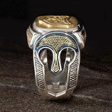Konstantino Ancient Warrior Shield Silver Bronze Mens Ring Side View
