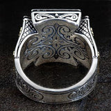 Konstantino Royal Maltese Cross Sterling Silver Mens Ring Back View