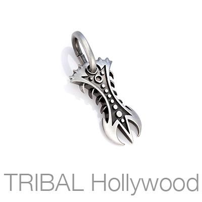Fire Bite Inspiration Symbol Tribal Necklace Pendant by Bico