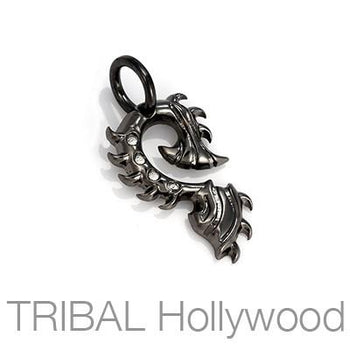TIGER CLAW Spiked Tribal Mens Necklace Pendant in Black Gunmetal by BICO Australia