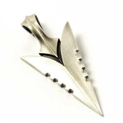 Bico assal arrowhead silver on target mens necklace pendant mozeypictures Gallery