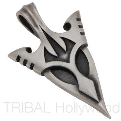 Bico Mnguni Silver Arrowhead Protection Necklace Pendant