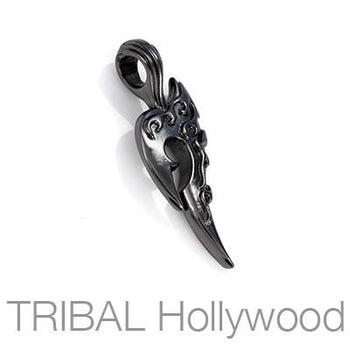 OUTLAW TRIBAL TATTOO Black Gunmetal Mens Necklace Pendant by BICO Australia